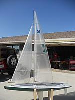 Name: boats 094.jpg Views: 151 Size: 101.5 KB Description: Sail # 45 Green hull , RMG winch. Ready for water. No radio & receiver. AMYA registered. $ 900.00 will meet with a 100 miles. Call Dan for more infro @ 951-201-9579