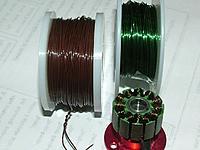 Name: 2812 Motor Rewind.jpg Views: 119 Size: 55.8 KB Description: Burned out Radio Shack 26ga wire (10 turns)