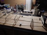 Name: 007 - DSCN7547.JPG Views: 124 Size: 907.5 KB Description: The dry fitted Frames ensured that the two sets of Sheers were aligned correctly from bow to stern.