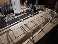Name: 015 - DSCN7582.JPG Views: 106 Size: 884.2 KB Description: The two halves of the Butterfly Keel are cut from the supplied basswood and fit from the front of Frame 6 to the rear of Frame 9.