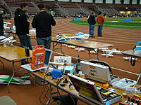 Name: DSC08687.jpg Views: 75 Size: 304.7 KB Description: Pit area was well stocked with chargers, spares, and repair materials.