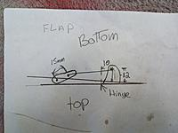 Name: IMG_20210222_113127_634.jpg Views: 36 Size: 3.75 MB Description: This was a drawing I did when I first set up the flaps on my first RPM it is drawn upside down but I did it as a reference to future builds.