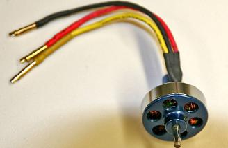The LightFlite 1100kV custom-wound motor
