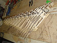 Name: DSC03165.jpg Views: 107 Size: 280.2 KB Description: The ribs for the left wing panel in the jig.