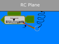 Name: Rc bomb drop 2.png Views: 699 Size: 22.8 KB Description: This incorporates the pull ring ignition system like in the post of the video above. Bomb would be released, ring anchored to plane via long string. bomb would pick up some speed and them pull out the ring igniting the fuse. Very simple to set up and use.