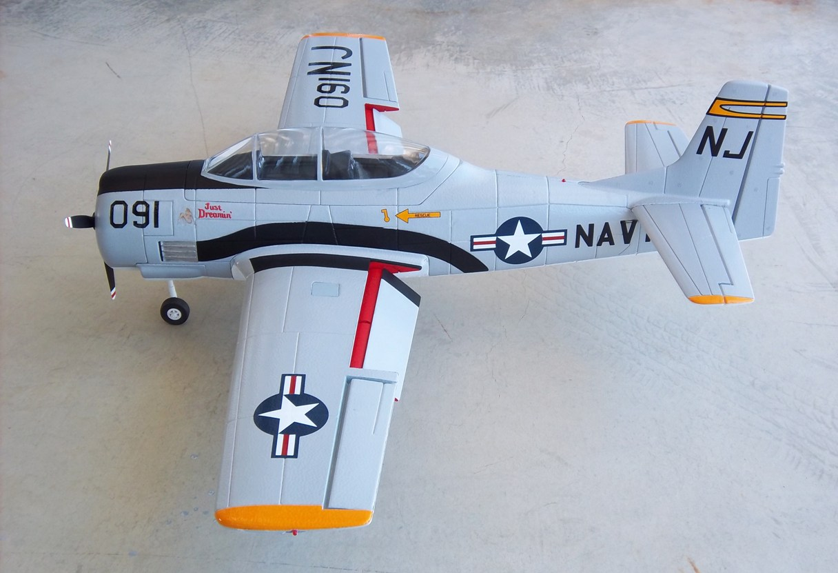 Name: Dynam T-28 & A-1 051.jpg Views: 486 Size: 184.2 KB Description: Dynam T-28 w/electric retracts, painted and detailed
