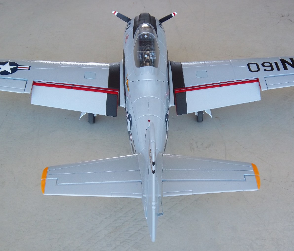 Name: Dynam T-28 & A-1 052.jpg Views: 293 Size: 201.4 KB Description: Dynam T-28 w/electric retracts, painted and detailed
