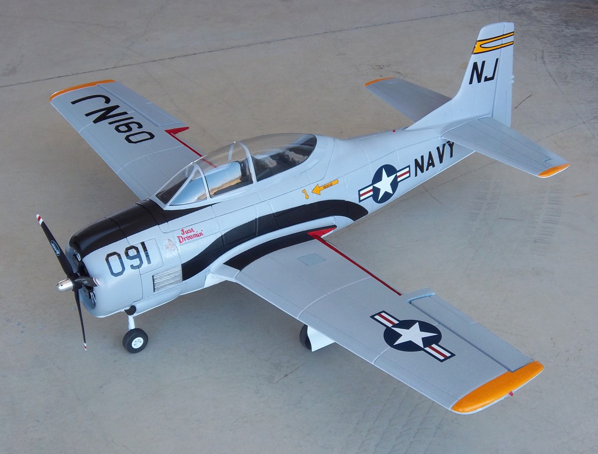 Name: Dynam T-28 & A-1 055.jpg Views: 734 Size: 197.6 KB Description: Dynam T-28 w/electric retracts, painted and detailed