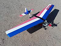 Name: 20210322_093121.jpg Views: 24 Size: 4.15 MB Description: Kyosho Wingmaster 10 Ultralight with Magnum .15 engine.