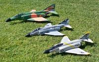 Name: Phantoms 018.jpg Views: 467 Size: 214.2 KB Description: G&C 70mm F-4D (Camo), J-Power 64mm F-4 & Exceed RC 64mm F-4E (22 Sep 09)