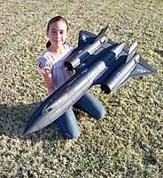 Name: SR-71 005.jpg Views: 804 Size: 143.1 KB Description: Evelyn holding the Blitz RC Works SR-71 Blackbird from Banana Hobby