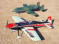 Name: 18 Dec 11 MMM 077.jpg Views: 524 Size: 275.6 KB Description: Dynam Sbach 342 with the Dynam A-10, both from Nitroplanes.com