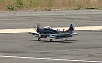 Name: Skyraider Taxi.jpg Views: 103 Size: 201.2 KB Description: Durafly 1100mm A-1 Skyraider taxi. Photo by Evelyn.
