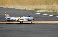 Name: FUN_FLY_7-7-13_036[1].jpg Views: 42 Size: 100.7 KB Description: Starmax 70mm F-86 touchdown. Photo by Ken Simmons.
