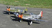Name: IMG_3281.jpg Views: 171 Size: 307.4 KB Description: Brent Hecht's (Corsair Nut) Durafly P-51D Glamorous Glen III with Tony Accurso's (xplaneguy) Durafly P-51D Old Crow.