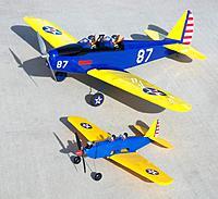 Name: Cox PT-19 & E-Flite PT-19.jpg Views: 57 Size: 84.7 KB Description: Classic Cox .049 powered PT-19 with E-Flite PT-19 behind