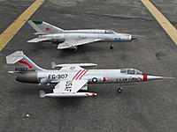 Name: IMG_3782.jpg Views: 657 Size: 976.3 KB Description: Freewing 90mm F-104 and 80mm Mig -21