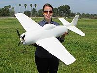 "Name: IMG_2422.jpg Views: 551 Size: 841.9 KB Description: RC Pilot Evelyn holding the FlightLineRC CNC Prototype F8F-1 Bearcat (Codename ""Project Evelyn""). Photo taken on 27 Mar 2016."