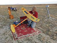 Name: IMG_9301.jpg Views: 76 Size: 720.9 KB Description: Bob Scully preparing his Satellite 588 for competition.