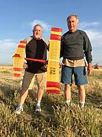 Name: IMG_9329.jpg Views: 83 Size: 284.9 KB Description: Brothers Jim and Stan Kelley enjoying free flight modeling together again.