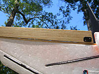 Name: 20.jpg Views: 89 Size: 116.9 KB Description: Basswood and balsa elevon from bottom. This is before the cf was placed an inch in front of elevons.