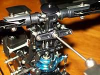 "Name: 100_0480.jpg Views: 74 Size: 85.5 KB Description: Added Align ""Preset"" links to head, Align seV2 dampeners, Align TREX-450 Sport Swashplate."