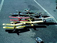 Name: 0317001234.jpg Views: 206 Size: 62.8 KB Description: Gws Tiger moth, exceed cub, Eflite Nieuport, SIG Fokker DVII, Great planes PUP, Camel, Alfa Spitfire and Scratchbuild Sukhoy