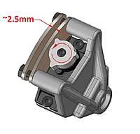 Name: sb5 brake 01.jpg Views: 593 Size: 60.7 KB Description: servo direction & brake pad gap.