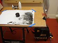 Name: DSC02608.jpg Views: 192 Size: 184.6 KB Description: My spraying setup with the AB single action airbrush. The compressor is a reasonable compromise between an airbrush only compressor and something for slightly larger jobs with a small spray gun.