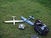 Name: DSC02649.jpg Views: 167 Size: 308.5 KB Description: Slipso and P-51 Python side by side at my club field.