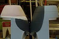 Name: Dynam ME-262 nacelle mod (10).jpg Views: 256 Size: 167.0 KB Description: Version I - Sanded down the contours to fit the new nozzle