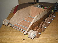 Name: P9120039.jpg Views: 123 Size: 61.5 KB Description: 1/4 & 1/8 ply hull with 1/4 ply wheels and 6mm axles with nyloc nuts.