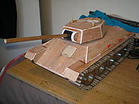 Name: PA120013.jpg Views: 108 Size: 217.4 KB Description: Hull side panels fitted and turret in place.
