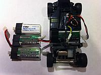 Name: nano300.jpg Views: 224 Size: 77.0 KB Description: size comparison: eflite 200mah stock, nanotech 300 for solo-pro, and nanotech 300 for mcpx. Solo-pro battery is in the car.