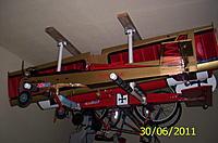 Name: 106_2661.jpg Views: 188 Size: 206.5 KB Description: pvc homemade airplane rack for two planes and wings Giant Big Stik & Balsa USA Thunderbug 120