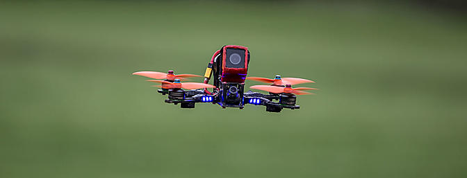 Matt Nowakowski handled his Alien quad with the RunCam 3 on it!