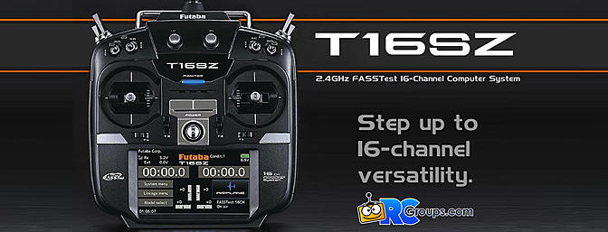 Futaba T16SZ - 16 Channel Transmitter