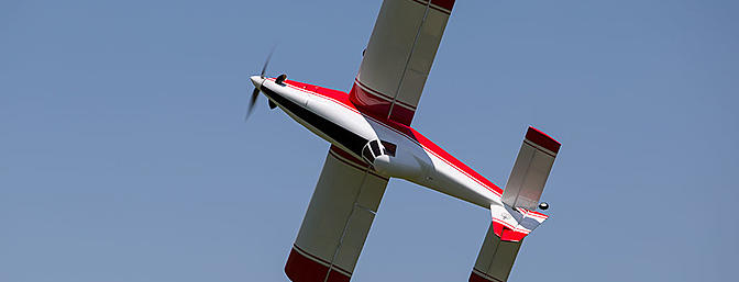 "Even with the relatively small rudder, the 44"" Mini Turbo Duster performs knife edge flight effortlessly."