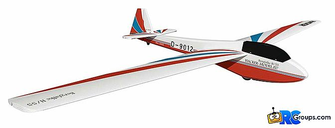 The Hacker Model Bergfalke 2-Meter Sailplane ARF