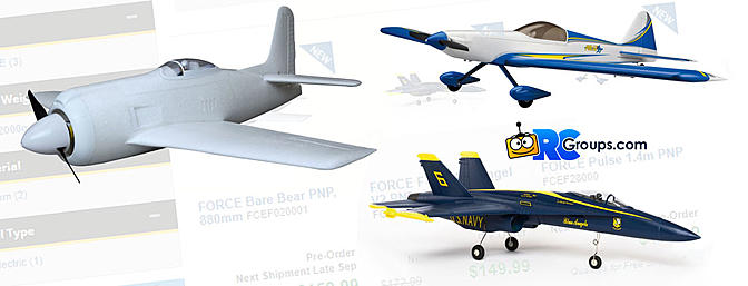 Three New Aircraft From Force RC - Horizon Hobby