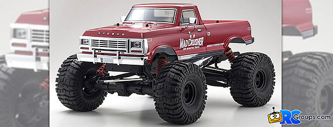 Kyosho Mad Crusher GP and VE Monster Trucks