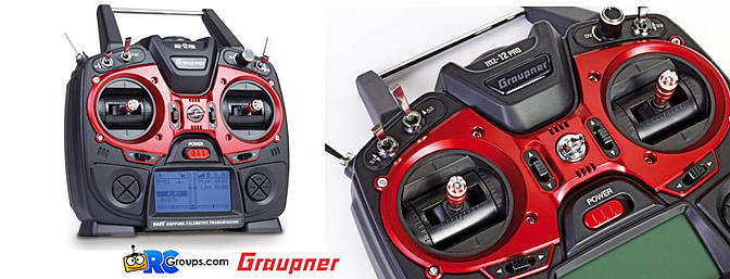 The Graupner mz-12 PRO 12 Channel 2.4GHz HoTT Transmitter