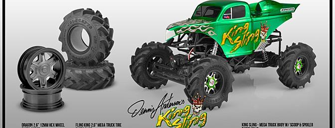"The King Sling body comes unpaired with decals. Check out the optional wheels and ""Fling King"" tires available separately."