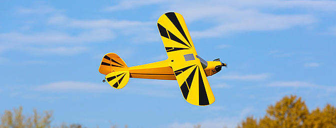 The E-flite Clipped Wing Cub 1.2m.
