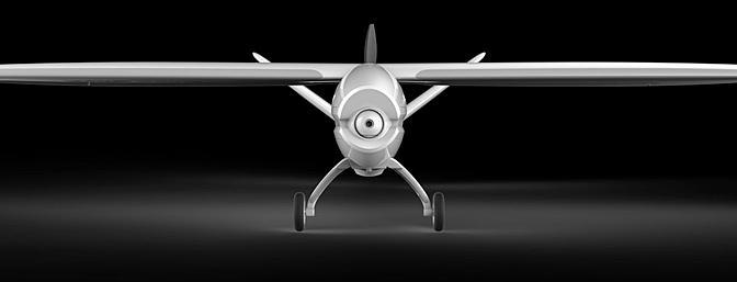The Yuneec Firebird FPV has a 1200mm wingspan.