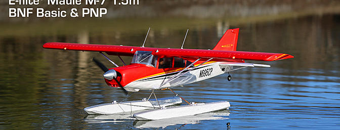 Yes, floats are included with the E-flite Maule M-7!
