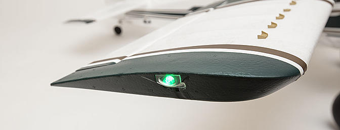The Avios Grand Tundra comes with pre-installed nav lights and landing lights.