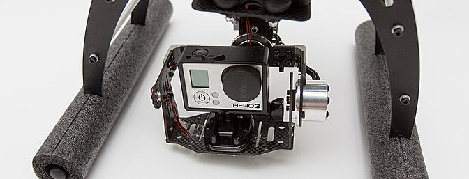 The Yun-1 brushless gimbal and a GoPro3 Black Edition