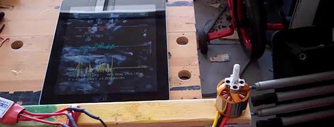 using a vibration app can help balance a motor