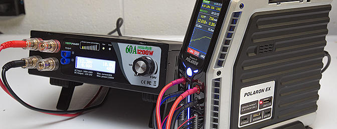 The Polaron EX paired up with a Titan 12-24v power supply